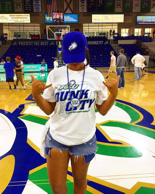 Throwing the wings up after a spectacular win over UNF in the ASUN Championship this year!